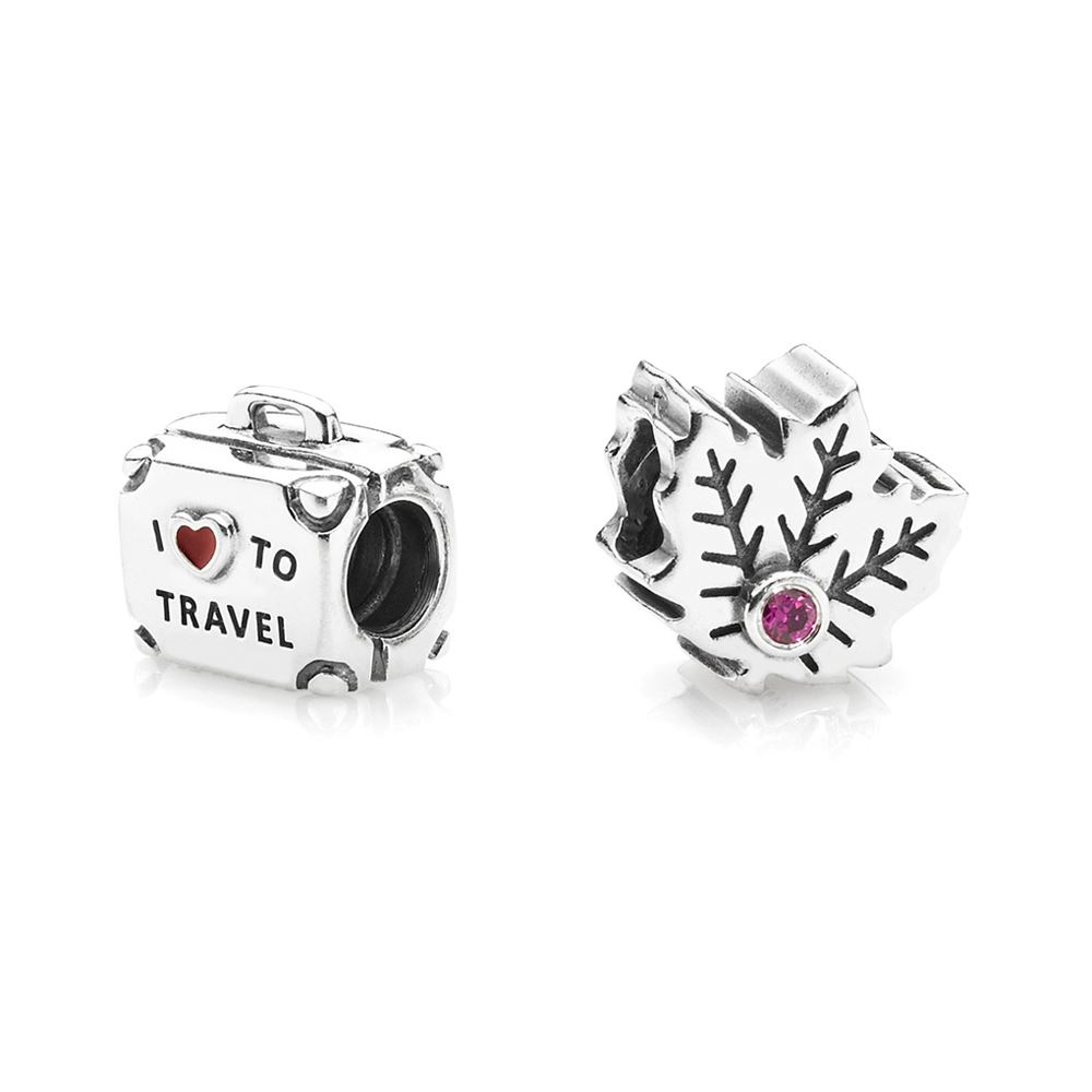 Picture of Maple Leaf And Suitcase Charm Set ?