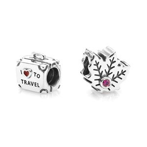 Picture of Maple Leaf And Suitcase Charm Set
