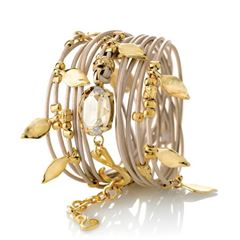 Picture of ELIASAF Gold And Crystal Bracelet - 150596