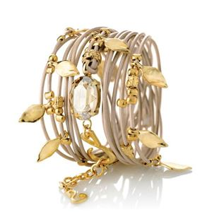Picture of ELIASAF Gold And Crystal Bracelet