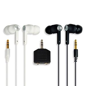Picture of SMUG Twin Pack Hi-Fi Quality, Noise Isolation, Stereo Earphones With Spliter