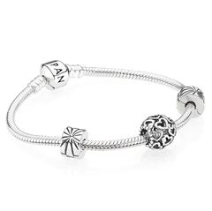 Picture of Pandora Starter Bracelet with Open Heart Charm - 154308
