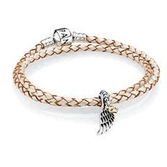 Picture of Pandora Love & Guidance Leather Bracelet (w/angel wing) - 154570
