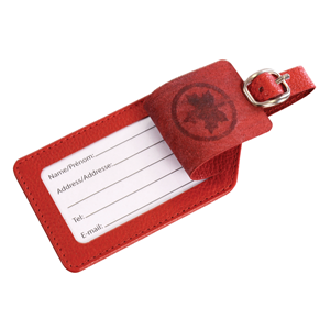 Picture of RED LEATHER LUGGAGE TAG