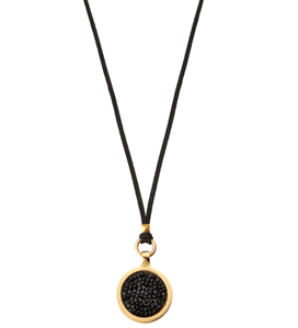 Picture of ELIASAF 24K GOLD PLATED BLACK CRYSTAL NECKLACE & RING SET