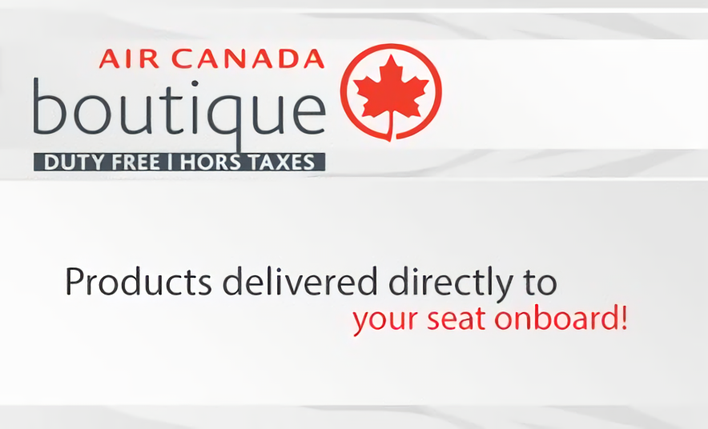 Air Canada boutique Duty Free | Hors taxes