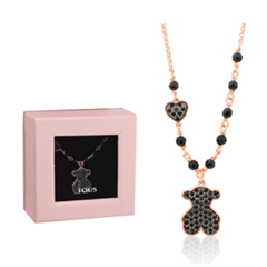Picture of BLACK SPINEL BEAR MOTIF NECKLACE - 154584