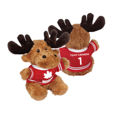 Picture of CANADIAN MOOSE WITH HOCKEY JERSEY - 167684