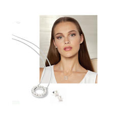 Picture of Misaki Pendant Adore & Earrings - 152760
