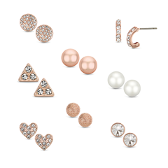 Picture of SET OF 8 ROSE GOLD EARRINGS - 154686