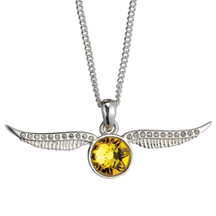 Picture of OFFICIALLY LICENSED HARRY POTTER STERLING SILVER GOLDEN SNITCH NECKLACE - 156580