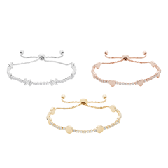 Picture of HUGS & KISSES BRACELET TRIO - 157104
