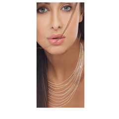 Picture of Silver Silk 10 Strand Necklace  - 150761